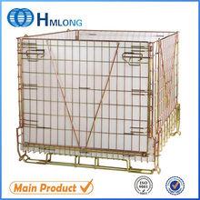 Foldable steel wire storage PET preform basket