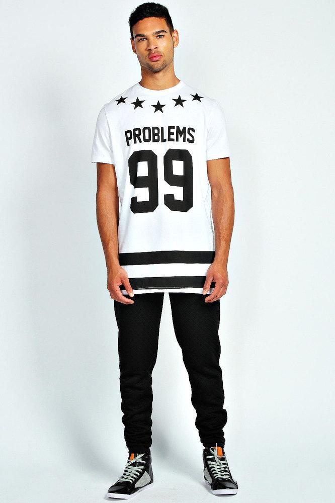 long line custom printed t shirt