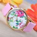 2014 ebay venda quente rosa relógio, o melhor presente fotos de meninas moda relógios
