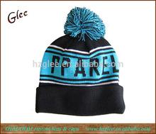 Custom acrylic pom knitted hat beanie