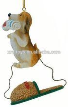 handmade lovely resin 4 Inch Dog Christmas Tree Ornaments