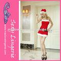 caliente ml8053 rojo hembra sin respaldo traje de navidad santa claus traje