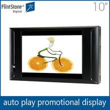 Flintstone 10 inch indoor lcd advertising player, full hd pos video display screen, digital signage media display screen