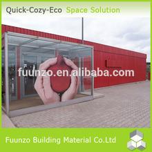 Galvanizado estructura prefabricada de fibra de vidrio casa y Villa