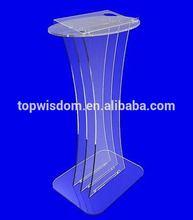 Design stylish acrylic floor rostrum dais lectern