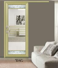 cheap aluminum glass circular/concave sliding/handing door xc1063