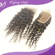 Flyinghair virgine humaine hair /virgin hairkismic curl/virgin hair with lace closure Hair Extension