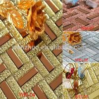 beveled glass mirror mosaic tile for bathroom / bathroom glass mosaic