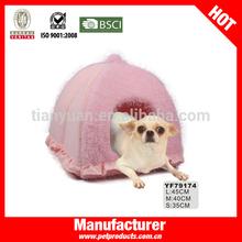 Pink Beautiful Girl Lovely Dog House Princess Pet Beds