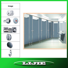 Lijie brand hpl toilet cubicle with stainless steel accessories