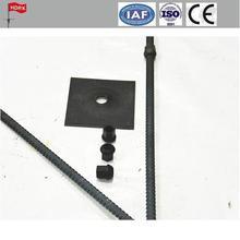 1.8m dia 22 coal mine roof bolt/no-rib left hand solid steel full thread bolt