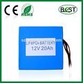 bkt 12v de litio fosfato de hierro 20ah batería de copia de seguridad para
