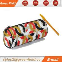 Pencil case, unique round leather pencil case