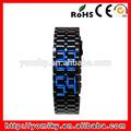 braccialetto nuovo arrivo orologiin acciaioinox led blu guardare senza volto
