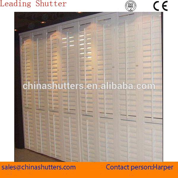Shutter style cabinet doors