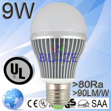 2015 New Product America Market 9W Bulb 2700-7000k A19 LED Bulb Housing UL DLC 5 Years Warranty E27