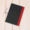 factory production black cover sewn binding hardcover notebook