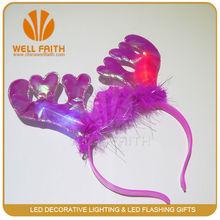 Christmas decoration Funny items Antler Plush Flashing LED Hair Clasp, decorative magnetic clasps Headband christmas deoration