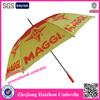 long metal umbrella yellow golf umbrella with opp bag