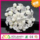Wholesale 2014 latest fashion hot sale noble elegant pearl channel brooch