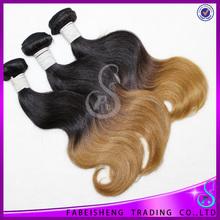 grade AAAAA two tone ombre hair weaves brazilian remy hair weaving