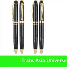 Hot Sale Custom cheap promotional gold black metal pen