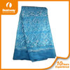 Popular style charmful design african french lace in blue french beaded lace