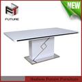 Moderne MDF bois laqué blanc table à manger
