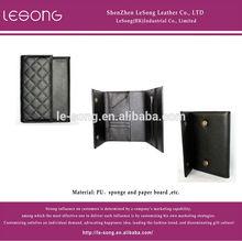 Fashionable black leather Lady Purse