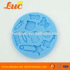Fondant Cake Chocolate Cupcake Decorating Tools Baby Toys Animals Shaped Baby Silicone Molds