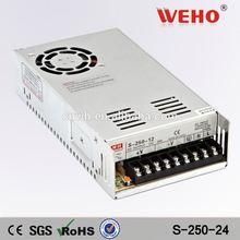 HOTSALE 250W Single output power supply 24v 10a dc power supply