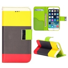 Phone Case Manufacturer Mix Color Flip Leather Case for iPhone 6 Plus