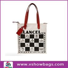 Hot salling 2011 tote beach bags stripe canvas beach tote shopping bag