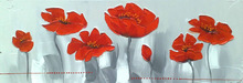 Canvas Oil Flower Painting,Framed Wall Picture