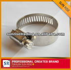 american type adjustable small size stainless steel metal pipe clip
