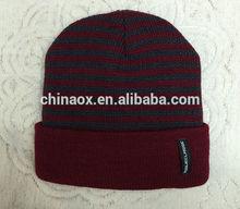 Men's wool knit hat knitted hat head cap warm ear warmers
