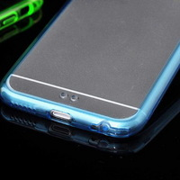 TPU + Acrylic cell phone Case for iphone 6 4.7 inch with Different Color Frame and Clear Back Cover