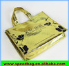 Laser gold nonwoven shopper bag with customized printing non woven tote bag