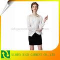 venda quente nova blusa manga longa unha talão chiffon blusa para as mulheres