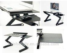 Folding tables flexible ergonomics stand for bed sofa desk