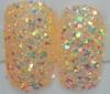 colorful glitter artificial fingernails, full cover shinny nail art tips