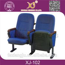 XJ-102 simple design folding plastic stadium chair with writing tablet
