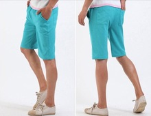 ZX 7 Colors 2014 New Summer Plus size Men Fashion Causal Linen Silm Fit Shorts Mens Beach Cargo Short Pants Overall Broadshorts
