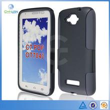 Double Layer Dream Mesh Design PC Silicone Combo Case For Alcatel One Touch Pop C7 Dual 7040D 7040E