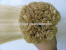 russian remy hair flat tip pre bonded hair weaving