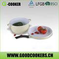 frutas y vegetales para freír los alimentos de hielo de la máquina de pan con salsa pot set