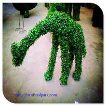 2014 new design lifelike topiary animals home/garden/park/shopping mall decoration artificial boxwood topiary animal