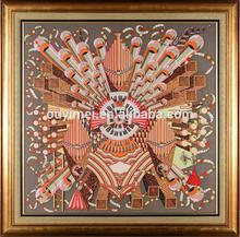 Hermes Scarves Craftwork Oil Painting