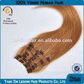 venta al por mayor fábrica de alibaba templo indio del pelo rojo del pelo clip en extensiones