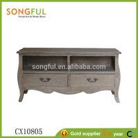 original design europe village style wooden furniture lcd tv stand